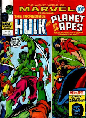 Mighty World of Marvel #246, The Hulk and Planet of the Apes