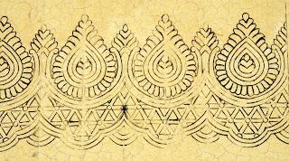 Sadi ka Kinara Drawing with pencil/sari khaka drawing with cutwork/cutwork border design khaka for hand emroidery