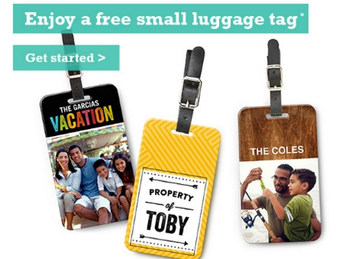 Shutterfly Free Luggage Tag Exclusive P&G Member Gift
