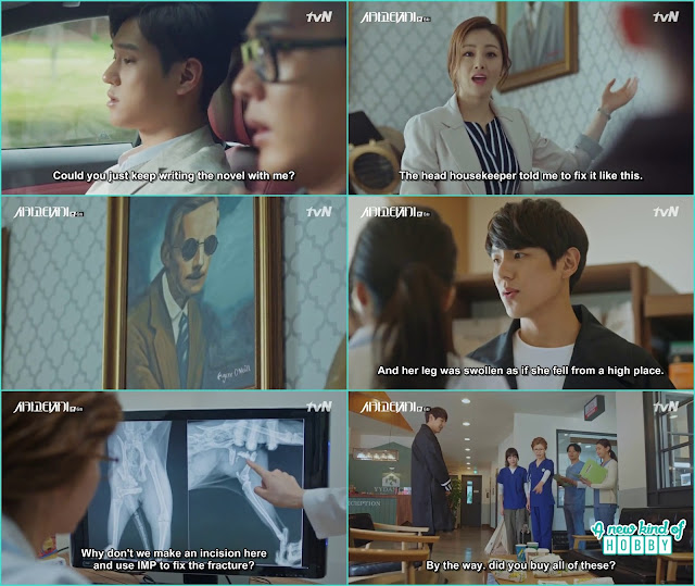 Tae min bring his cat at the veterinary clinic and buy them lunch - Chicago Typewriter: Episode 6