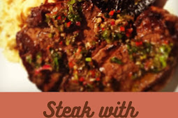 Chimichurri sauce steak
