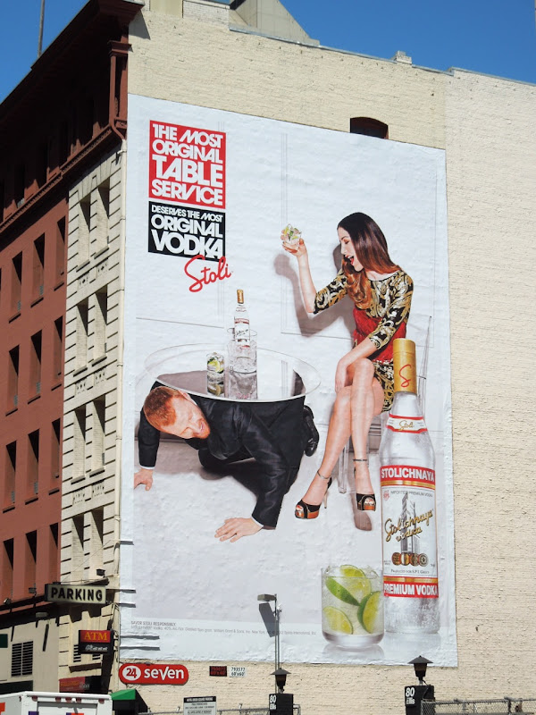 Stoli Most Original Table Service billboard