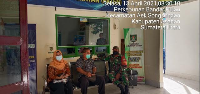 Personel Jaajran Kodim 0208/Asahan Rutin Laksanakan Komunikasi Sosial Dengan Masyarakat