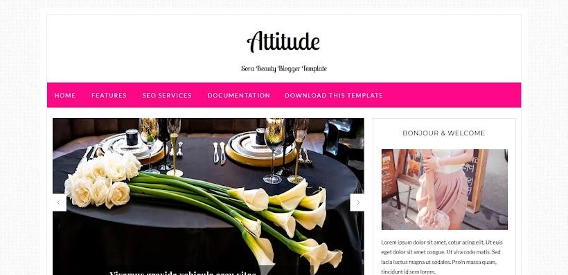 Attitude Free Blogger Template