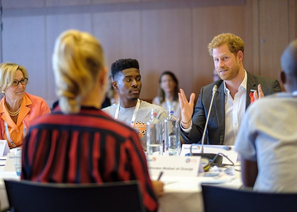Princess Mabel of Orange-Nassau and Prince Harry, The Duke of Sussex attended the official opening of AIDS2018. Meghan Markle