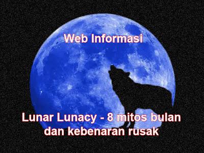 Bulan purnama biru dan serigala