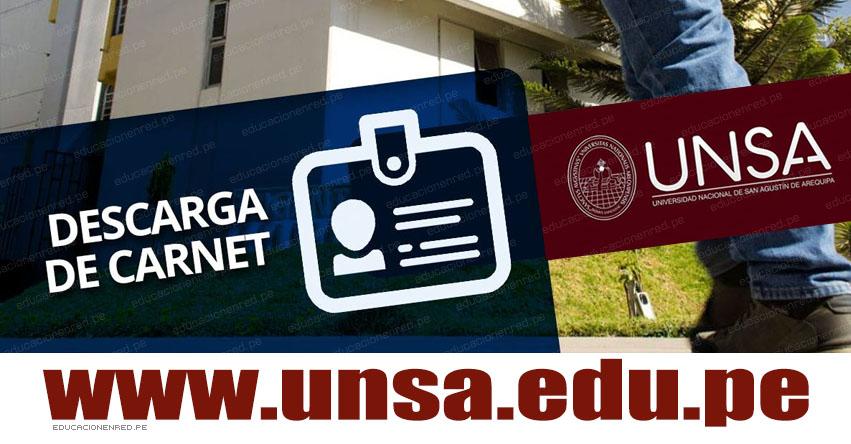 Descargar Carnet UNSA 2020 - Fase I (Examen General 25 Agosto) Examen Admisión - CARNÉ DEL POSTULANTE - PÁGINA DEL POSTULANTE - Universidad Nacional de San Agustín Arequipa - www.unsa.edu.pe