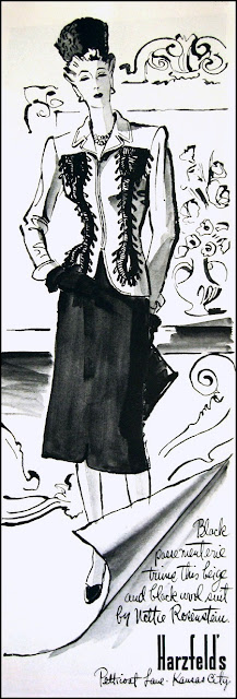 1942 Harper's Bazaar fashion ad