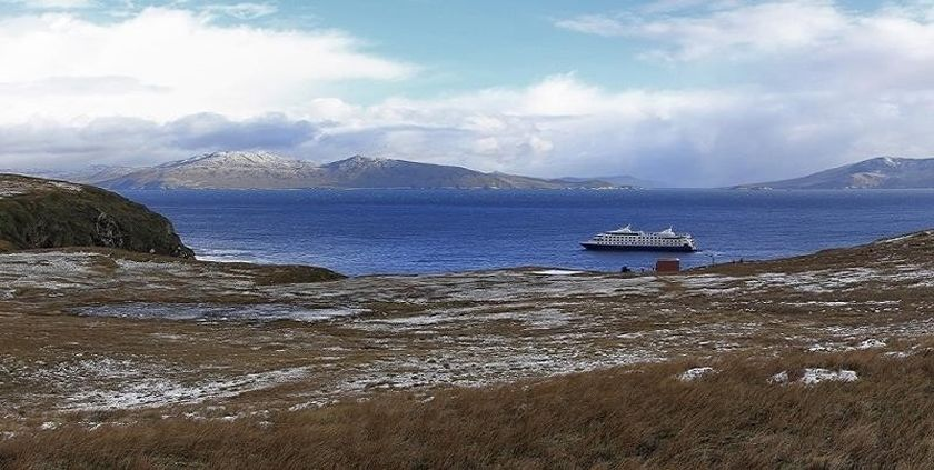A Cruise visiting Cape Horn, Chile.