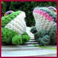 Sapitos de colores amigurumis