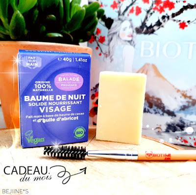 BIOTYfull Box Janvier 2020 baume ballade provence
