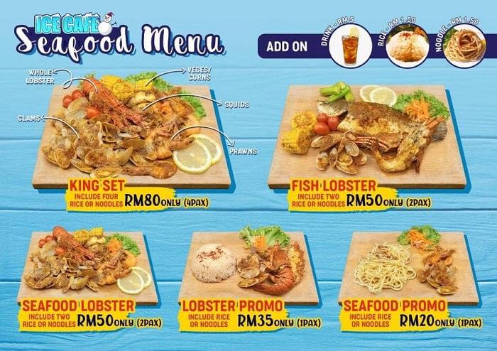 Ice Cafe Penang Seafood Menu Price