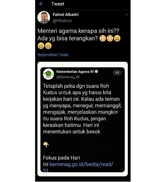 Twit Kemenag Jadi Kontroversi Netizen