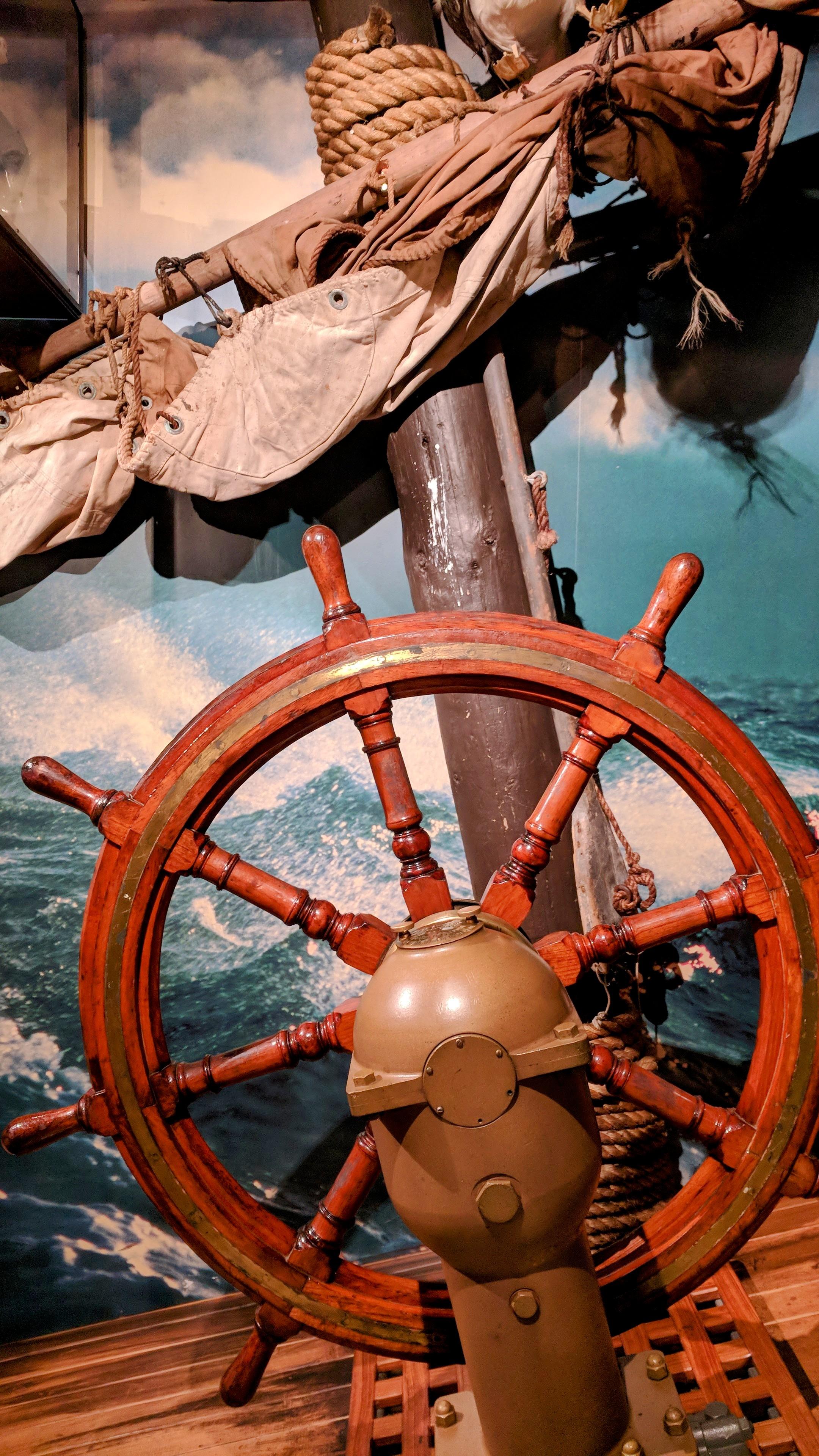 Ships wheel at Wellington Museum