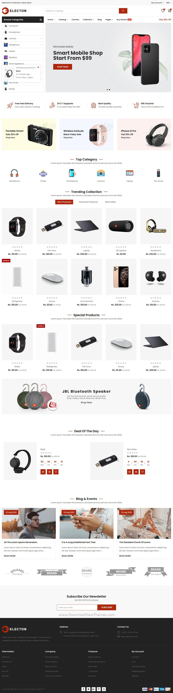 The Electronics and Gadgets eCommerce Shopify Theme