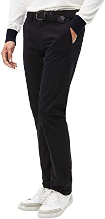 Casual chic straight fit trousers