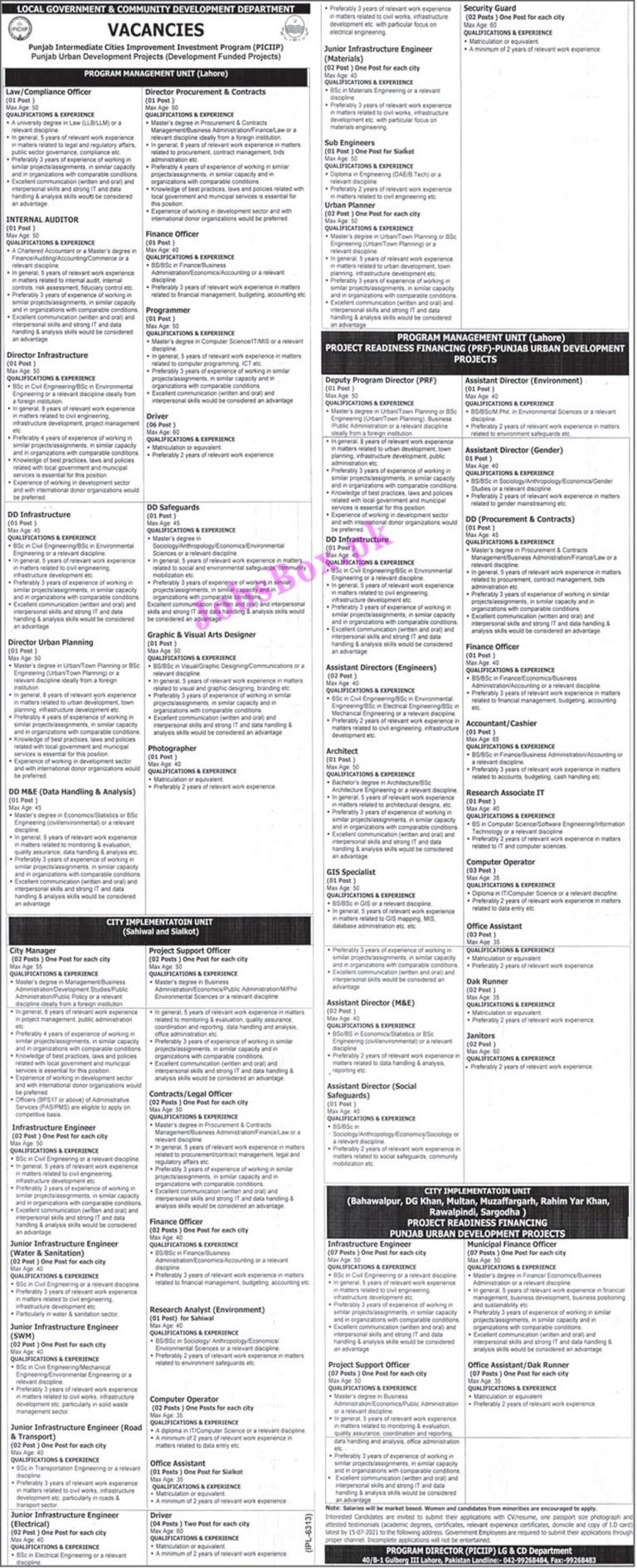 Local Govt and Community Development Department Punjab