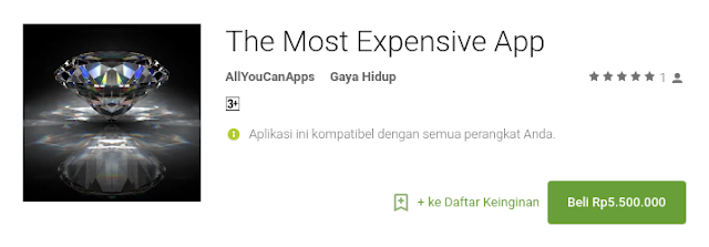 aplikasi android termahal di Play Store The Most Expensive App