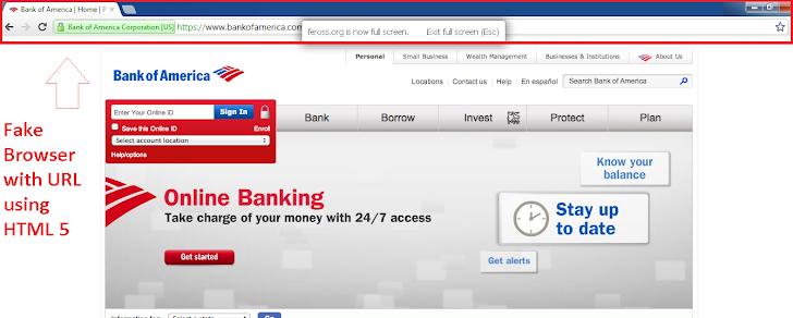Advance Phishing Attacks using HTML5 Fullscreen API