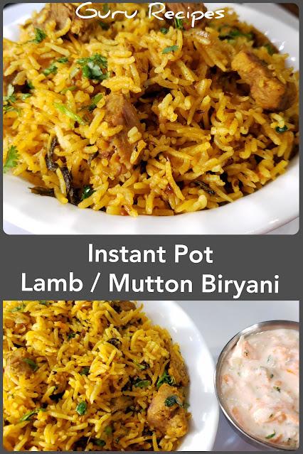 Instant Pot Lamb Biryani | Mutton Biryani
