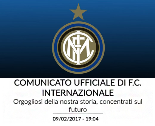 Comunicato Inter sulle polemiche post Juventus-Inter