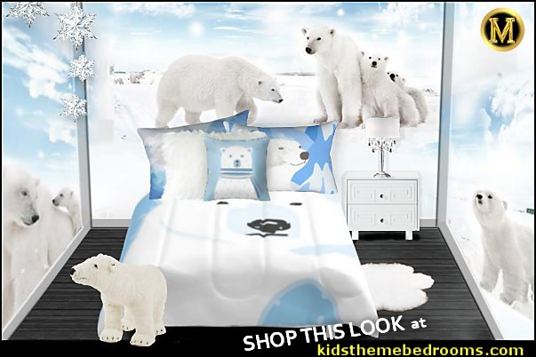 polar bear bedroom bear decor kids room Polar Bear cute animals winter bedroom ideas