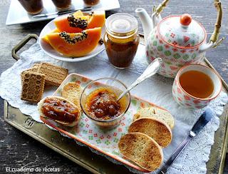 Mermelada de Papaya & Naranja {Apta para diabéticos}