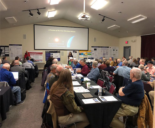 AAVSO Director, Dr. Stella Kafka kicks off 107th annual meeting (Source: Palmia Observatory)