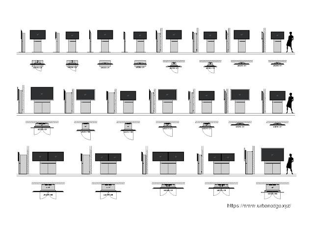 TV Unit cad block, 50+ TV Wall furniture cad blocks download