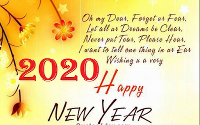 Happy new year message with image