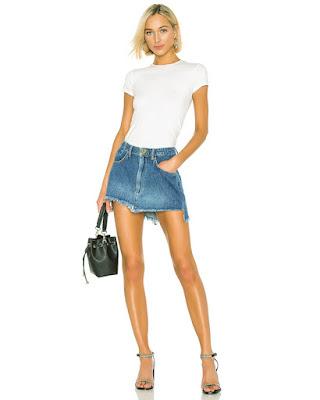 Harga jual Mini Skirt online murah dengan bahan denim