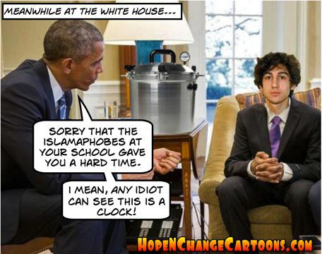 obama, obama jokes, political, humor, cartoon, conservative, hope n' change, hope and change, stilton jarlsberg, terror, tsarnaev, boston marathon