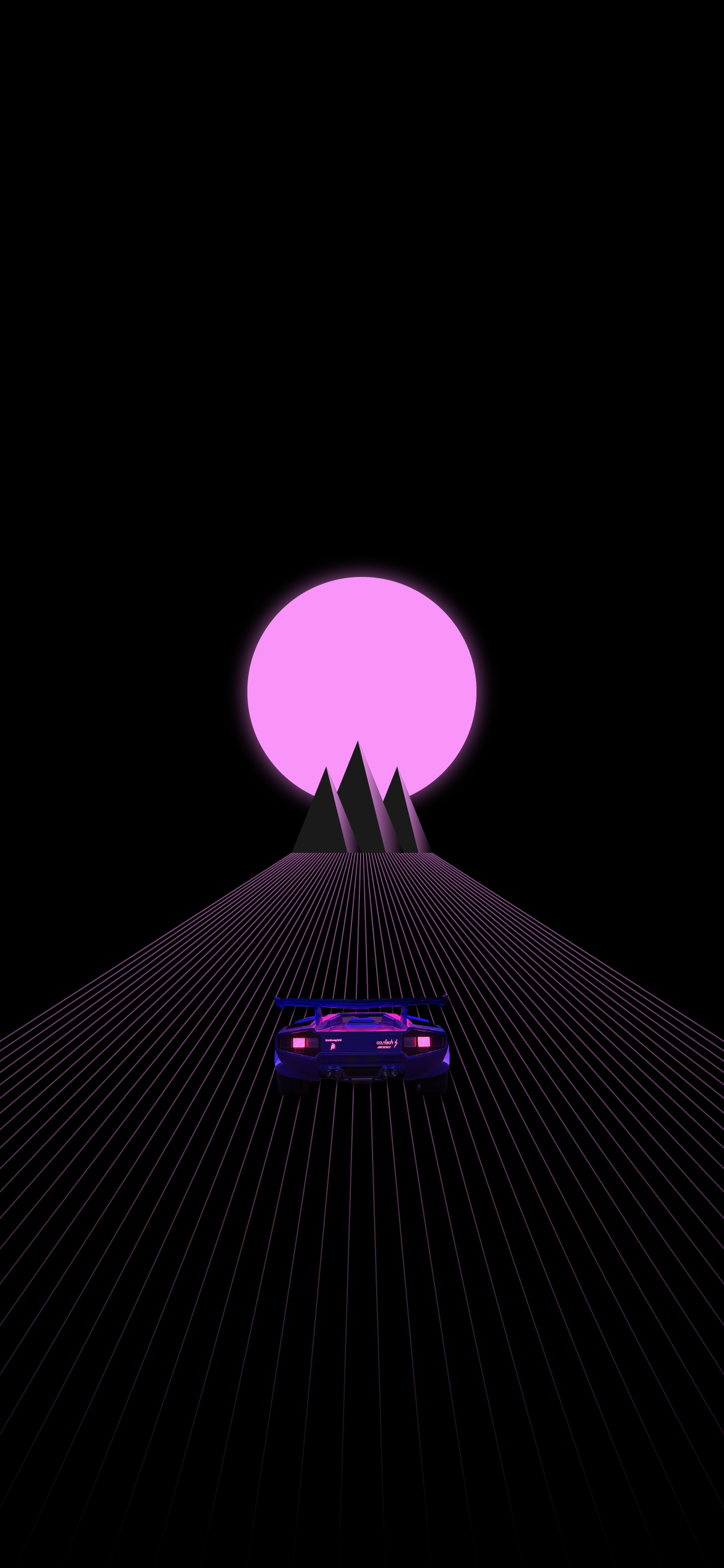 synth style background wallpaper