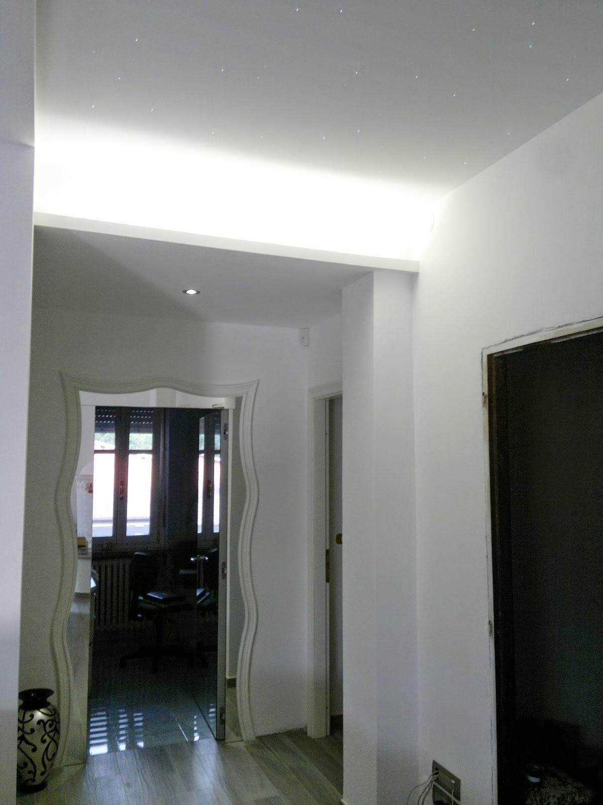 Illuminazione led casa almese ristrutturando una residenza privata - Illuminazione ingresso casa ...