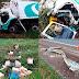 Caminhão carregado de frango empanado tomba na Rodovia Orlando Quagliato próximo a entrada de Ourinhos