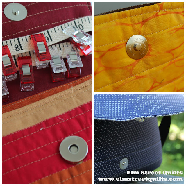 Elm Street Quilts Bag It Magnetic Snap tutorial