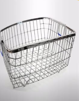 Plantex High Grade Stainless Steel Dish Drainer Basket for Kitchen/Dish Drying Stand/Plate Rack/Bartan Basket