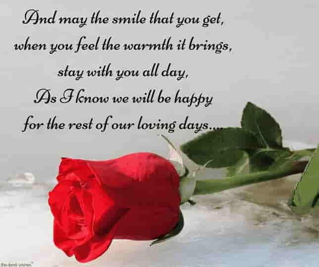 romantic poem for him with red rose