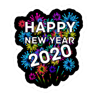happy new year 2020 with background color