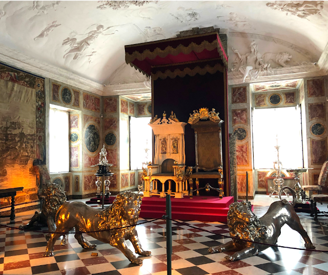 Stunning coronation thrones at Rosenborg Slot.
