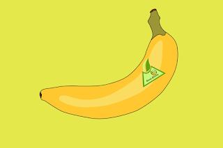 label, produk, pisang