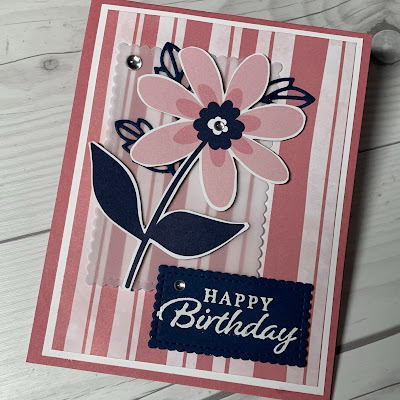 Floral Birthday Card using Stampin' Up! Paper Blooms Designer Series Paper