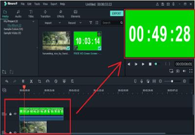 edit green screen di filmora