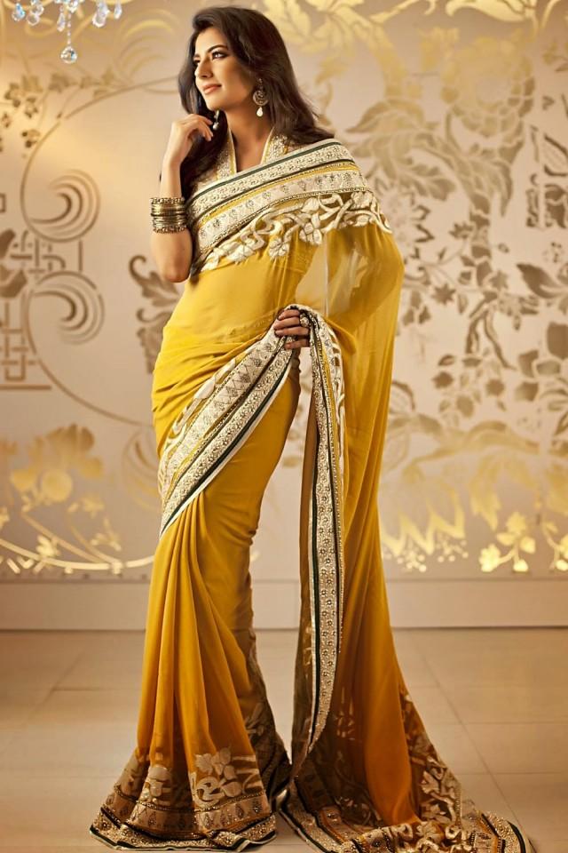 latest beautiful stylish saree in new styles - Sari Info