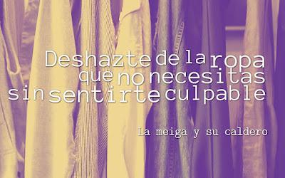 Deshazte de la ropa que no necesitas sin sentirte culpable