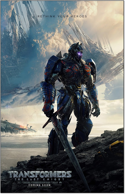 Transformers: The Last Knight, Rethink Your Heroes, New Poster