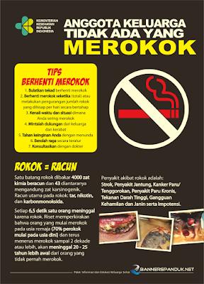 Poster kesehatan tentang bahaya merokok cdr
