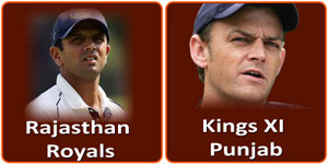 RR Vs KXIP IPL match is on 14 April 2013