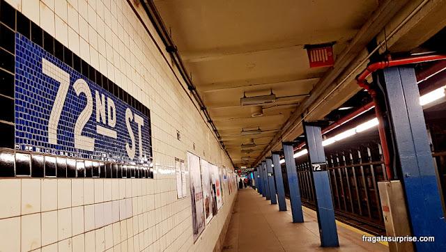 Transporte em Nova York - Estação de Metrô da Rua 72, no Central Park