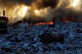 Incêndio atinge Lixão do município de Patos